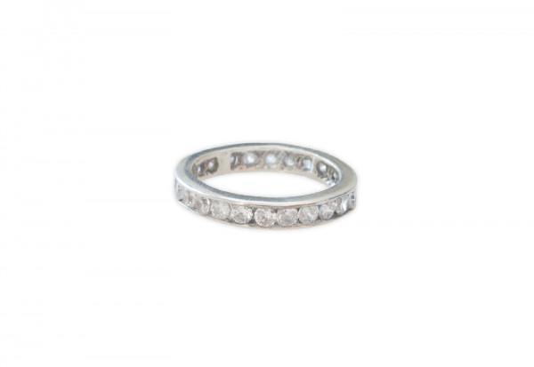 Silberring 'Für immer Dein' mit diamantweißen Zirkonias - Ringgröße 20