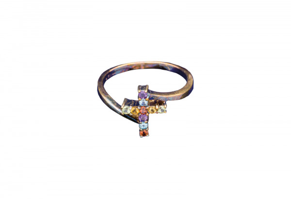 Kreuz-Ring des Himmels in Silber Größe 18