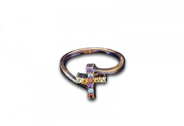 Kreuz-Ring des Himmels in Silber Größe 19 Kreuz 1,3x 1cm