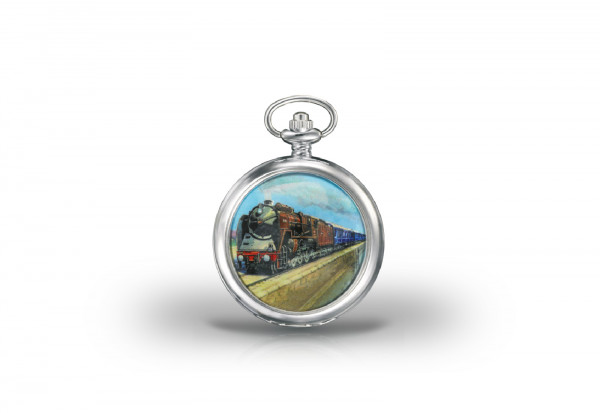 Herren Taschenuhr Train Bleu Glory of Steam Collection