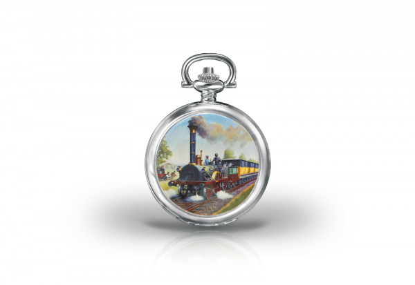 Herren Taschenuhr Adler Glory of Steam Collection