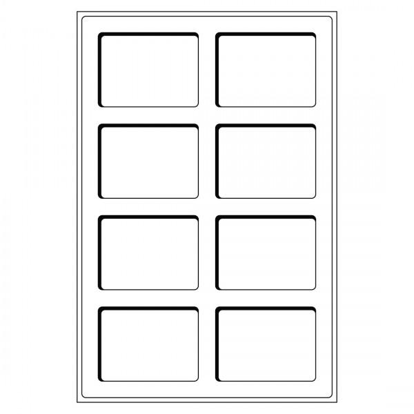 Münztableau L mit 8 Fächern für US-Münzenkapseln SLABS, blau, 2er Pack
