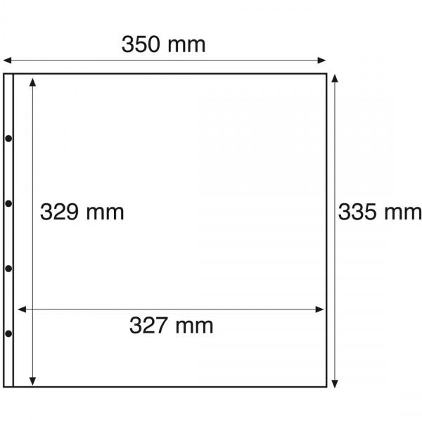 Kunststoffhüllen MAXIMUM, fürBögen, 1er Einteilung, glasklar, 5er Pack