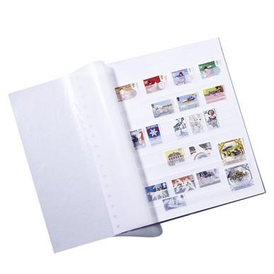 Einsteckblätter ASTRA, mit 11Pergaminstreifen ungeteilt, weiß, 5er Pack