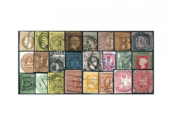 Briefmarken Altdeutschland Premium-Kollektion gestempelt und ungebraucht