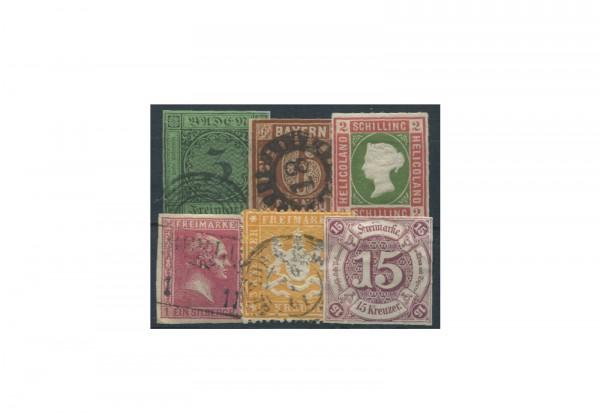 Briefmarken Altdeutschland 10 verschiedene Marken postfrisch und gestempelt