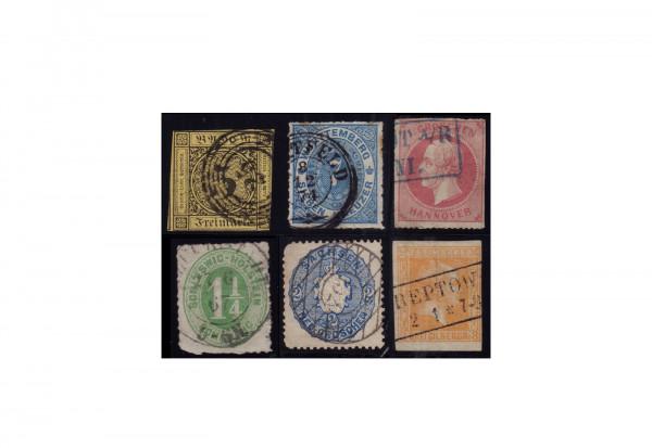 Briefmarken Altdeutschland Lot Kabinett verschiedene Groschen und Kreuzer Werte