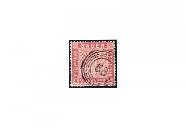 Briefmarke Altdeutsche Staaten Baden 1861 Michel-Nr. 12 gestempelt