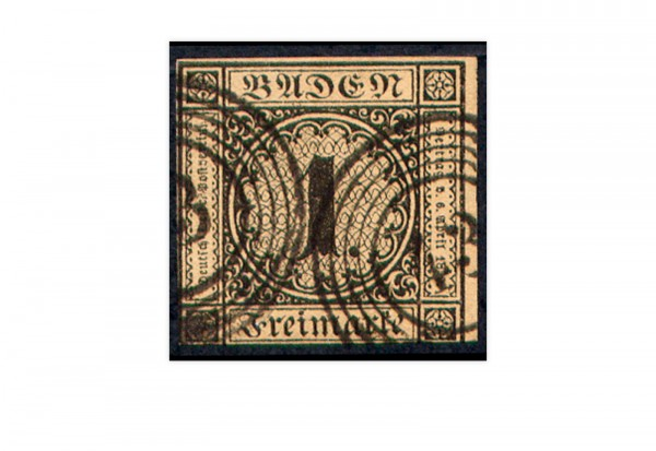 Briefmarke Altdeutsche Staaten Baden Freimarke 1851 Michel-Nr. 1b gestempelt