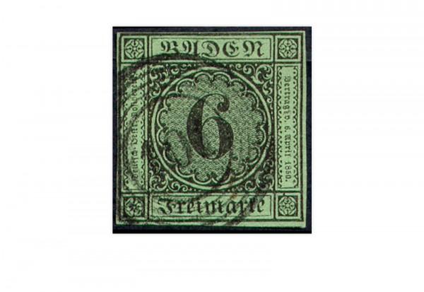 Briefmarke Altdeutschland Baden Freimarke 1851 Michel-Nr. 3 b gestempelt