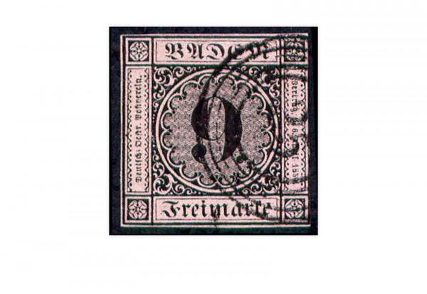 Briefmarke Altdeutschland Baden Freimarke 1851 Michel-Nr. 4 a gestempelt
