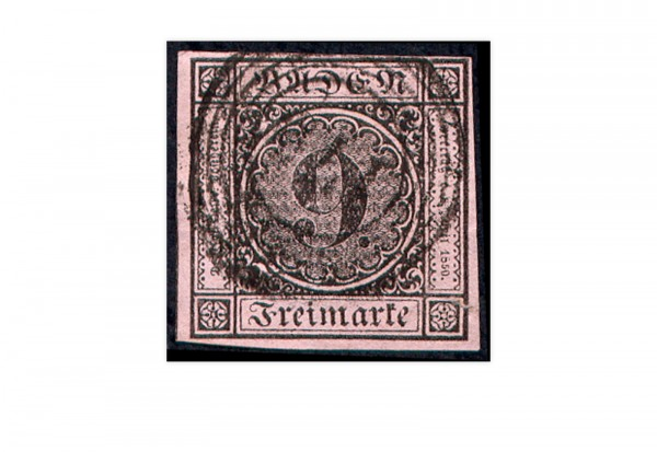 Briefmarke Altdeutschland Baden Freimarke 1851 Michel-Nr. 4 b gestempelt