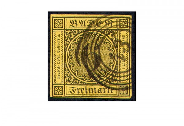 Briefmarke Altdeutschland Baden Freimarke 1853 Michel-Nr. 7 gestempelt