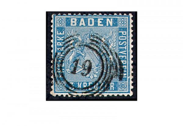 Briefmarke Altdeutschland Baden Freimarke 1860 Michel-Nr. 10 a gestempelt
