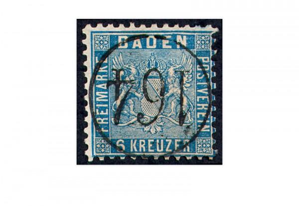 Briefmarke Altdeutschland Baden Freimarke 1863 Michel-Nr. 14 b gestempelt