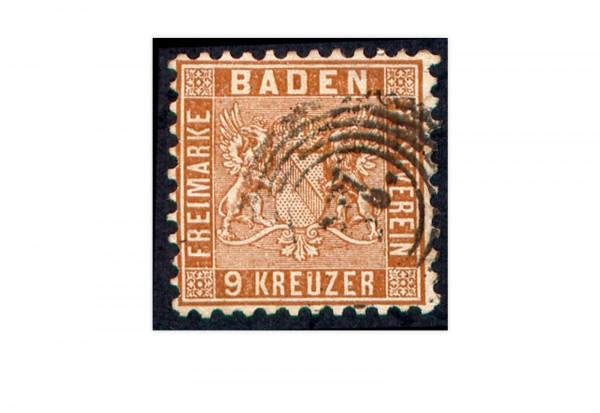 Baden 1862 Mi.Nr. 15 a gestempelt