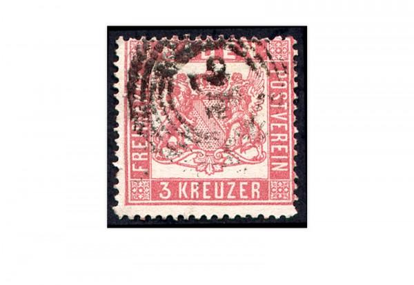 Baden 1862 Mi.Nr. 16 gestempelt