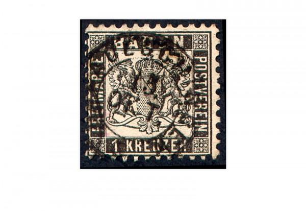 Briefmarke Altdeutschland Baden Freimarke 1862 Michel-Nr. 17 gestempelt