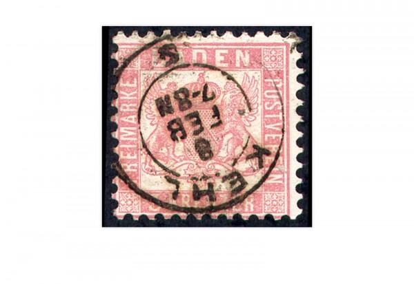 Briefmarke Altdeutschland Baden Freimarke 1862 Michel-Nr. 18 gestempelt