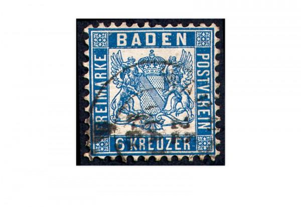 Baden 1862 Mi.Nr. 19 b gestempelt