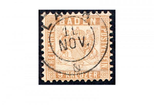 Briefmarke Altdeutschland Baden Freimarke 1862 Michel-Nr. 20 b gestempelt