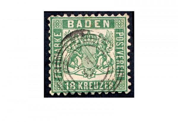 Briefmarke Altdeutschland Baden Freimarke 1862 Michel-Nr. 21 gestempelt