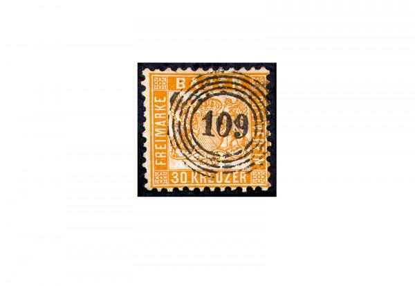 Briefmarke Altdeutschland Baden Freimarke 1862 Michel-Nr. 22 gestempelt