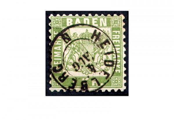 Briefmarke Altdeutschland Baden Freimarke 1868 Michel-Nr. 23 gestempelt