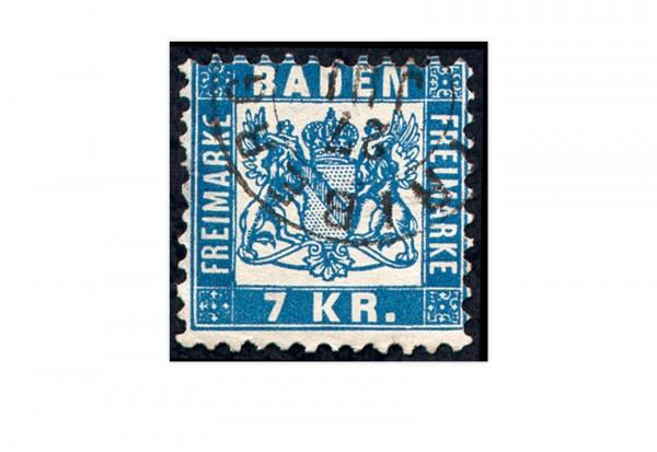 Briefmarke Altdeutschland Baden Freimarke 1868 Michel-Nr. 25 a gestempelt