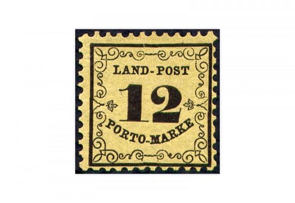Briefmarke Altdeutschland Baden Portomarke 1863 Michel-Nr. P 3 Falz