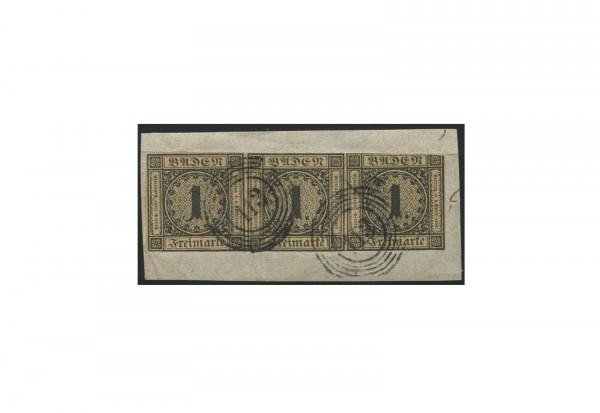 Briefmarke Altdeutschland Baden Freimarke 1851 Michel-Nr. 1 b gestempelt