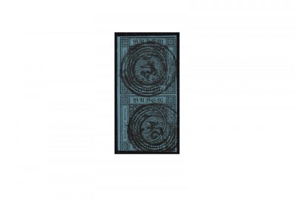 Briefmarke Altdeutschland Baden Freimarke 1858 Michel-Nr.8 gestempelt geprüft
