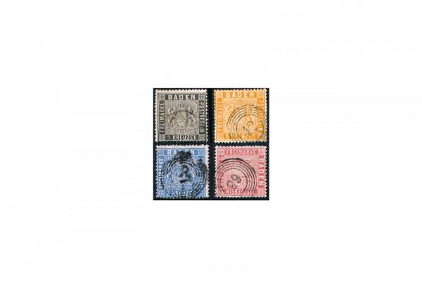 Briefmarken Altdeutschland Baden Freimarken 1860-1862 Michel-Nr. 9-12 gestempelt
