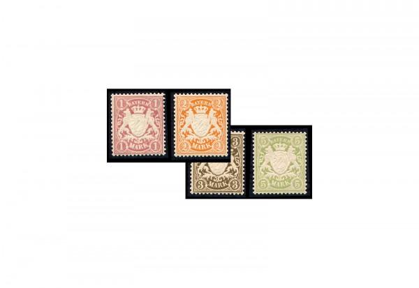 Briefmarken Altdeutschland Bayern Freimarken Michel-Nr. 71-74 postfrisch