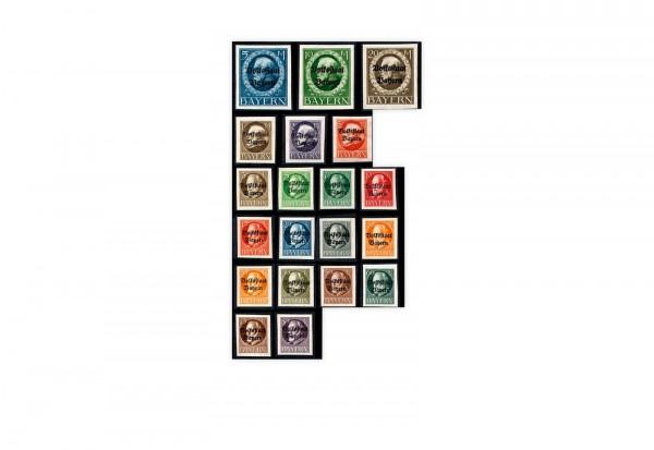 Briefmarken Altdeutschland Bayern Freimarken 1919 Mi-Nr. 116-135 B postfrisch