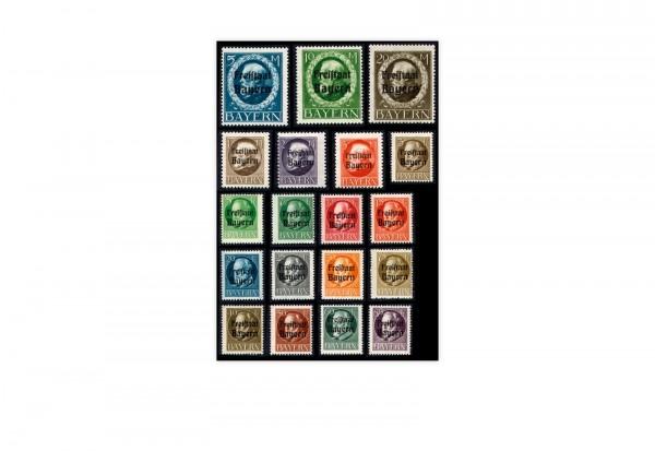 Briefmarken Altdeutschland Bayern Freimarken 1919 Michel-Nr. 152-170 A postfrisch