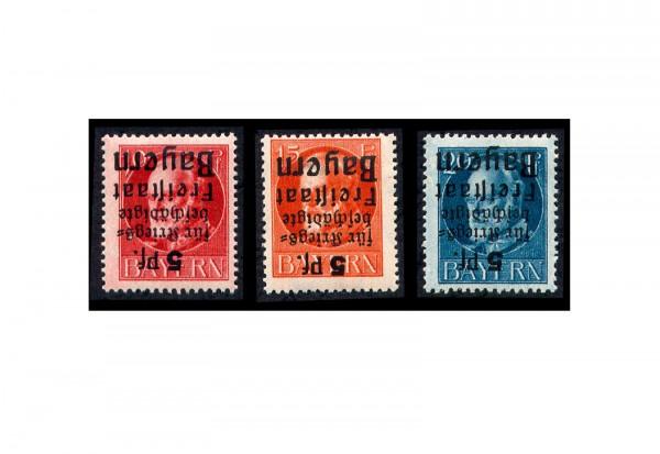 Briefmarken Altdeutschland Bayern Hilfe für Kriegsbeschädigte 1919 Michel-Nr. 171-173 Falz
