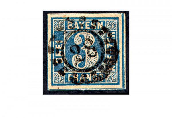 Bayern Mi.Nr. 2 II gestempelt