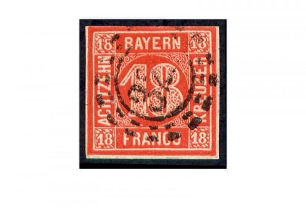 Briefmarke Altdeutschland Bayern Freimarke 1862 Michel-Nr. 13 gestempelt