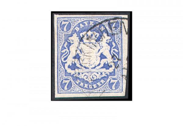 Briefmarke Altdeutschland Bayern Freimarke 1868 Michel-Nr. 21 gestempelt