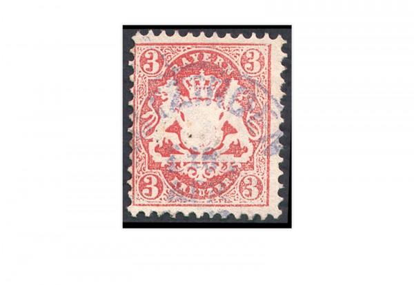 Briefmarke Altdeutschland Bayern Freimarke 1870 Michel-Nr. 23 y gestempelt