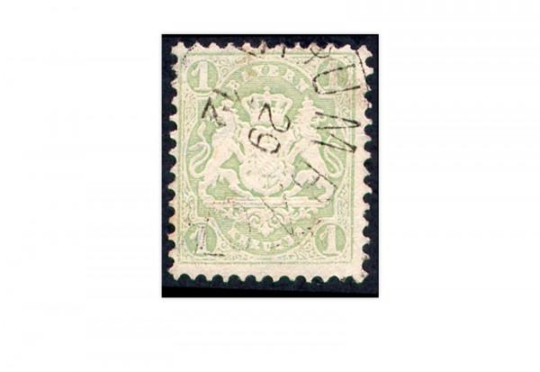 Briefmarke Altdeutschland Bayern Freimarke 1875 Michel-Nr. 32 gestempelt
