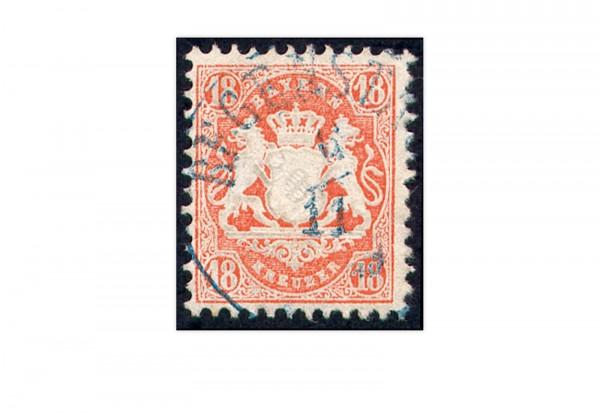 Briefmarke Altdeutschland Bayern Freimarke 1875 Michel-Nr. 36 gestempelt