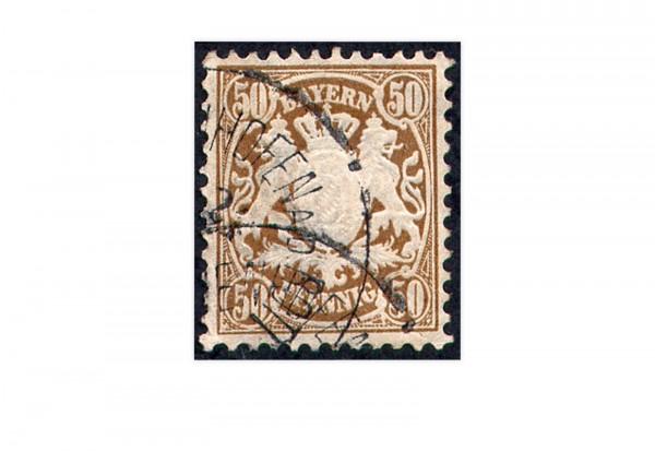 Briefmarke Altdeutschland Bayern Freimarke 1878 Michel-Nr. 46 gestempelt