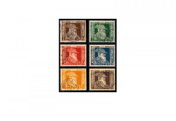 Briefmarken Altdeutschland Bayern 1911 Michel-Nr. 86-91 II gestempelt