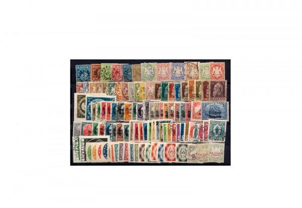 Briefmarken Altdeutsche Staaten Bayern 1849-1920 gestempelt und Falz