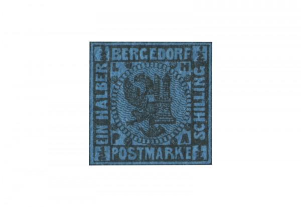 Briefmarke Altdeutschland Bergedorf Freimarke 1867 Michel-Nr. 1 b postfrisch