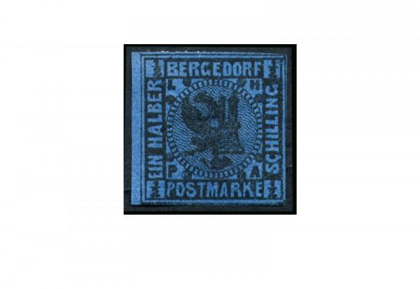 Briefmarke Altdeutschland Bergedorf Freimarke 1861 Michel-Nr. 1 b Falz