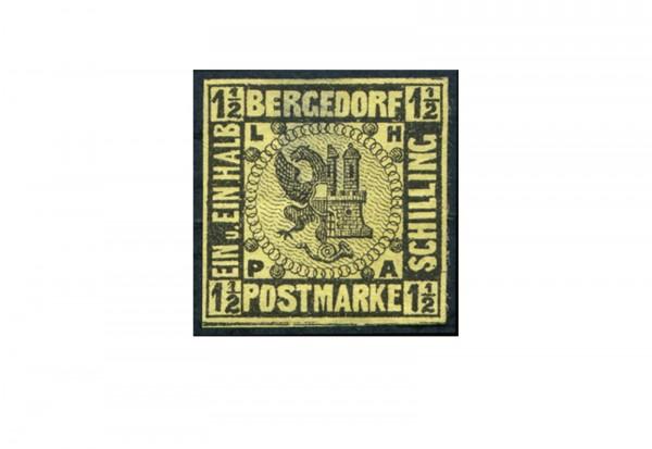 Briefmarke Altdeutschland Bergedorf Freimarke 1861 Michel-Nr. 3 Falz