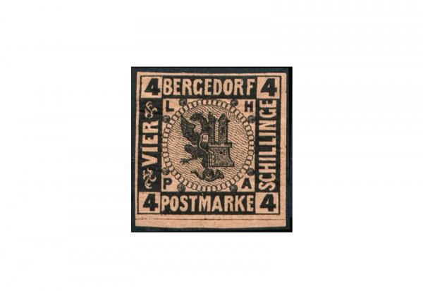 Briefmarke Altdeutschland Bergedorf Freimarke 1867 Michel-Nr. 5 Falz